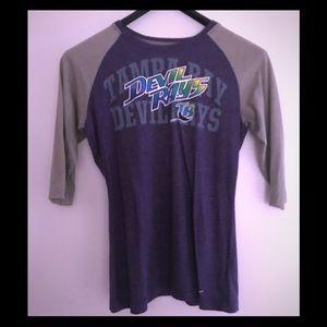 Vintage Nike Tampa Devil Rays purple baseball tee